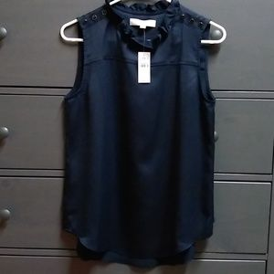 Nwt Loft navy blouse